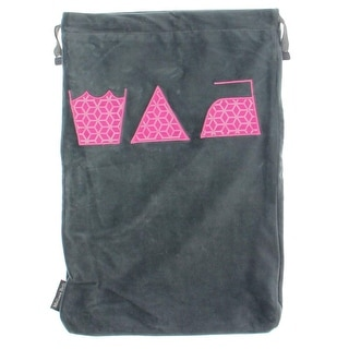 Melissa Beth Womens Velour Embroidered Laundry Bag