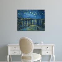 Easy Art Prints Vincent Van Gogh's 'Starry Night Over the Rhone' Premium Canvas Art