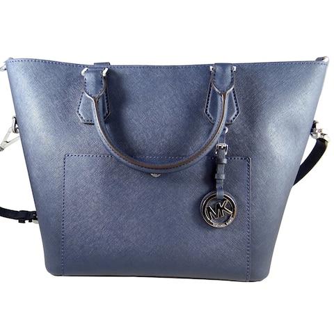 Michael Michael Kors Women's Greenwich Navy Saffiano Leather Large Grab Bag 35T6SGRS3T