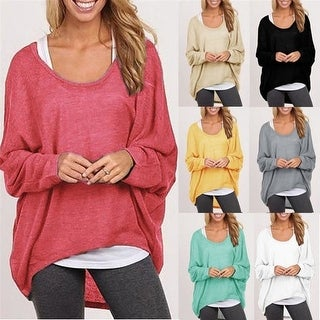 Spring Autumn Women Sweater Jumper Pullover Blouse Top