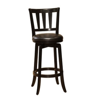 """Hillsdale Furniture 4478-826  Presque Isle 18"""" Wide Wood Counter Stool with Vinyl Upholstered Seat - Black"""