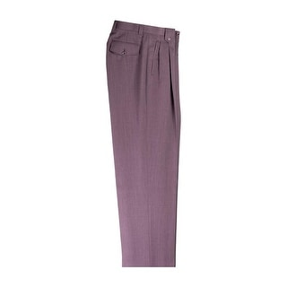 Magenta Wide Leg Pure Wool Dress Pants by Tiglio Luxe