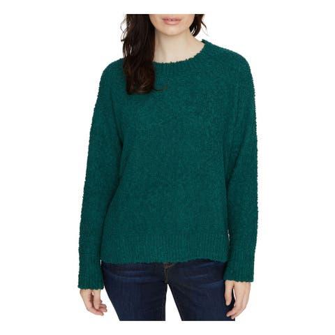 SANCTUARY Womens Green Long Sleeve Jewel Neck T-Shirt Sweater Size L
