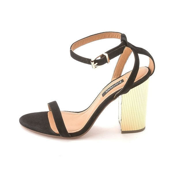 Kay Unger Womens ZANDER Leather Open Toe Casual Ankle Strap Sandals - 9.5