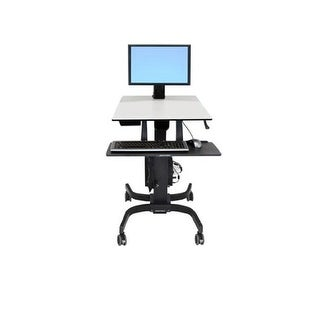 Ergotron 24-215-085 Workfit-C Single Ld Sit-Stand Workstation