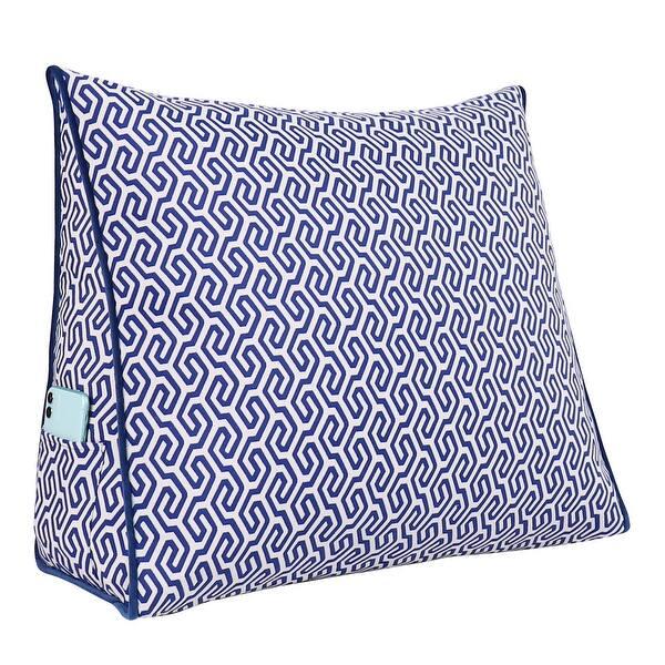 WOWMAX Bedrest Back Support Wedge Bolster Reading Pillow Daybed Gray Velvet