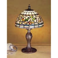 Meyda Tiffany 30314 Stained Glass / Tiffany Accent Table Lamp from the Turning Leaf Collection - n/a