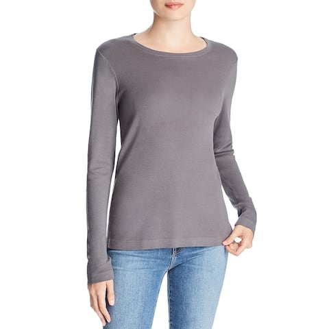 Three Dots Womens Pullover Top Modal Blend V-Neck