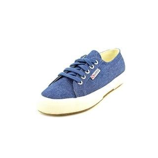 Superga Vintage Denim Women Round Toe Canvas Blue Sneakers