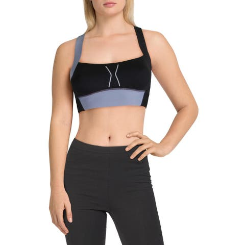 Reebok Womens Compression Sports Bra High Support Running - Black - XS