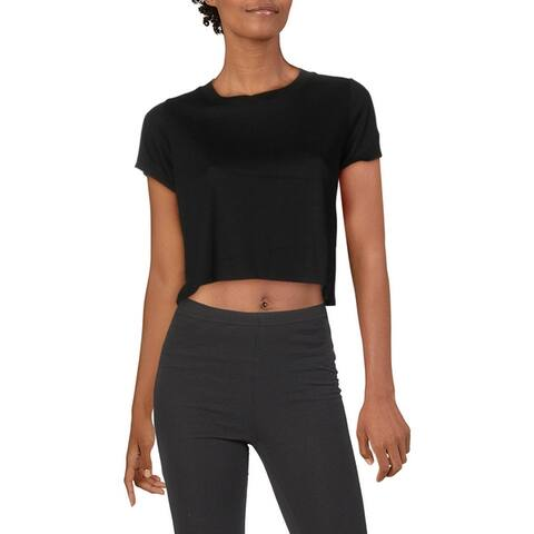 Splendid Women's Sweat Wick Short Sleeve Activewear Fitness Crop Top