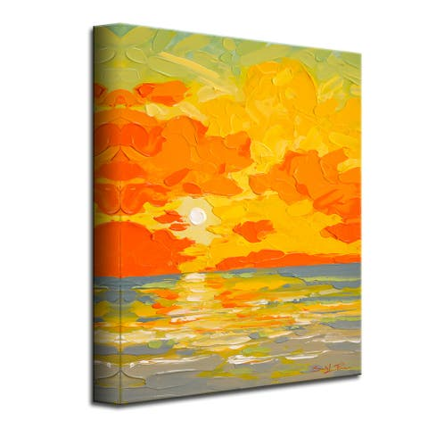 Gravity Sunrise' Scenic Coastal Canvas Wall Art by Sarah LaPierre