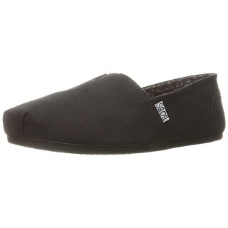 BOBS from Skechers Women's Plush - Peace and Love Flat, Black