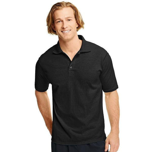 e27182b4 Shop Hanes X-Temp® Men's Polo - Size - L - Color - Black - Free Shipping On  Orders Over $45 - Overstock - 13858228