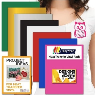 "Siser EasyWeed Heat Transfer Vinyl Sheets (8 Pack) 12""x9"" Smooth Custom Tshirt"