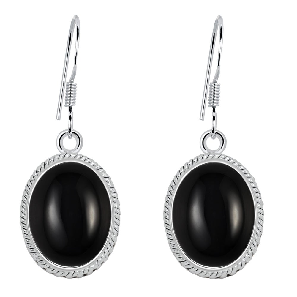 Black Agate Druzy Gemstone Earrings Black Agate Sparkly Earrings Small Black Oval Gemstone Earrings Sterling Silver Lever Back Earrings