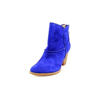 Ella Moss Violet   Round Toe Suede  Ankle Boot