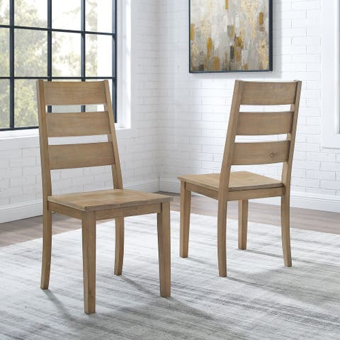 "Joanna 2Pc Ladder Back Chair Set - 18.13 ""W x 22 ""D x 39.13 ""H"