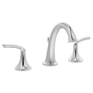 Symmons SLW-5512-1.5 Elm Widespread Bathroom Faucet - Includes Metal Drain Assembly