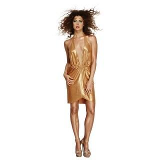 Women's Gold 70s Disco Diva Costume