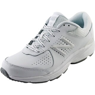 New Balance WW411 Women 4E Round Toe Leather White Walking Shoe
