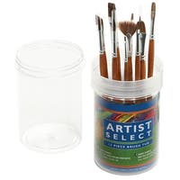 Pro Art Artist Select Short Handle Brush Tub Assortment 12/P-Natural Ox Hair