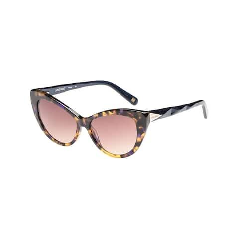 772bc4d04f Nine West Womens Cat Eye Sunglasses Tortoise Fashion - Blue Tokyo Tortoise  - O S