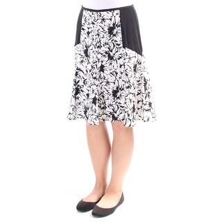 ROBERT RODRIGUEZ $79 Womens New 1402 Black Printed A-Line Skirt 8 B+B