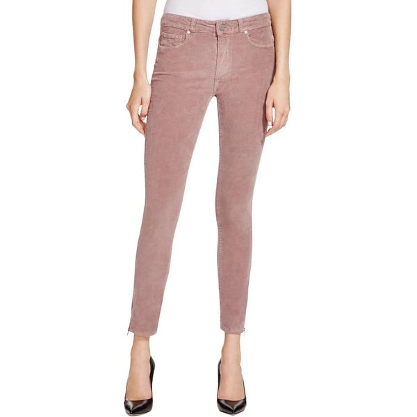 Paige Womens Corduroy Pants Stretch Flat Front