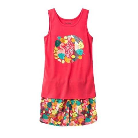 Cat & Jack Girls' Pajama 2PCS Set Flamingo Ultra Coral XS 4-5 - X-Small (4/5)