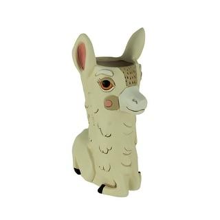 Allen Designs Llama Love Decorative Planter Vase - 9.5 X 6.5 X 4.5 inches