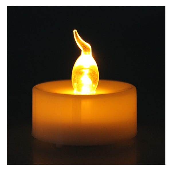 AGPtek 6pcs Battery LED Romantic Amber Tea Light Flameless Flickering Flashing Candle For Party Wedding Decoration