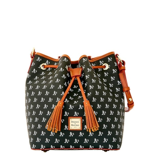 Dooney & Bourke MLB Athletics Drawstring (Introduced by Dooney & Bourke at $248 in Oct 2015) - Black