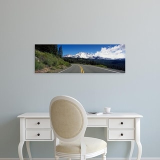 Easy Art Prints Panoramic Images's 'Road Mt Shasta CA' Premium Canvas Art