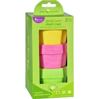 Green Sprouts Snack Cups, Sprout Ware 6 Months Plus Pink Assorted - 3 Pack