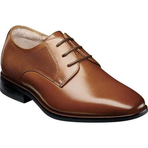 Florsheim Boys' Postino Plain Toe Oxford Jr. Cognac Leather