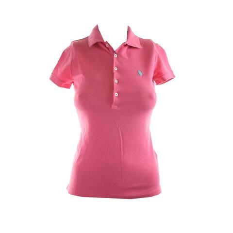 Polo Ralph Lauren Pink Short-Sleeve Stretch Mesh Polo Shirt XS