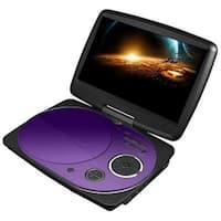 9-In Swivel Portable DVD Player Purple