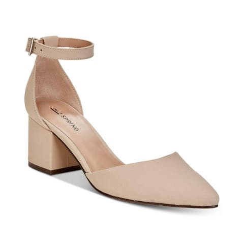 Call It Spring Womens Aiven Suede Pointed Toe Ankle Strap D-orsay Pumps