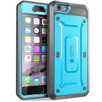 """SUPCASE Apple iPhone 6 Plus 5.5"""" Case - Unicorn Beetle Pro Series Protective Cover with Built-in Screen - Blue Black"""