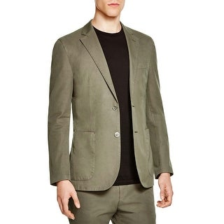 Hardy Amies Olive Green Unstructured Cotton Sportcoat 36 Regular 36R