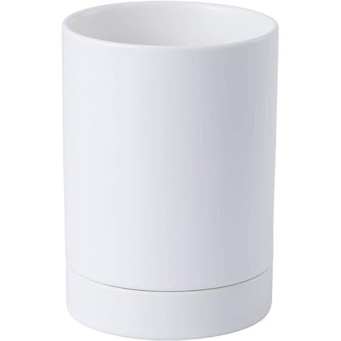 Bruntmor Kitchen Utensil Holder for Countertop, 5.6 Ceramic Utensil Crock, Matte Glazed Kitchen Décor, Easy to Clean