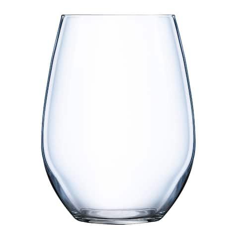 Luminarc Grand Estate 16.75-Ounce Stemless White Wine Glass, Set of 6