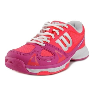 Wilson Rush Pro Jr Youth Round Toe Synthetic Pink Tennis Shoe