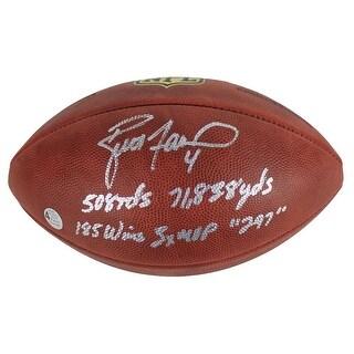 Brett Favre Green Bay Packers Signed Wilson NFL Duke Football 5 Inscr Favre