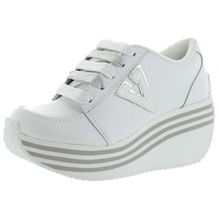 VOLATILE Elevation Rhinestone Womens Wedge Platform Shoes Sneakers