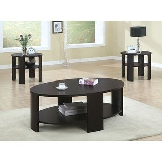 Monarch Specialties End table IV 18 Inch Tall Round End Table