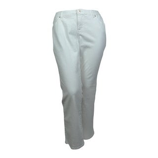 INC International Concepts Women's Slim Tech Fit Bootcut Jeans