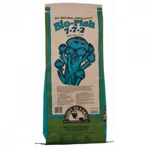 Down To Earth 03502 Bio-Fish All Nutrient Rich Fertilizer, 25 Lbs, 7-7-2