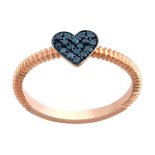 Prism Jewel Round Blue Diamond Heart Shaped Valentine Ring